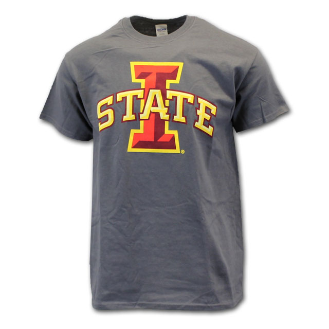 Image For Cy's Deals I-State Short Sleeve T-Shirt (Charcoal)