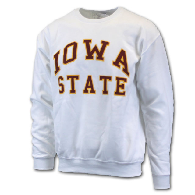 Image For Cy's Deals Iowa State Crew Neck Sweatshirt (White)