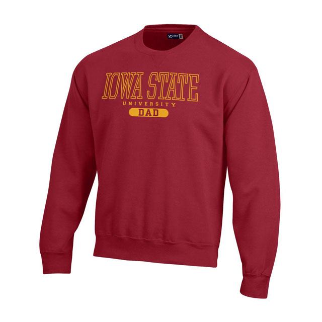 Image For Gear For Sports Iowa State University Dad Crew Neck