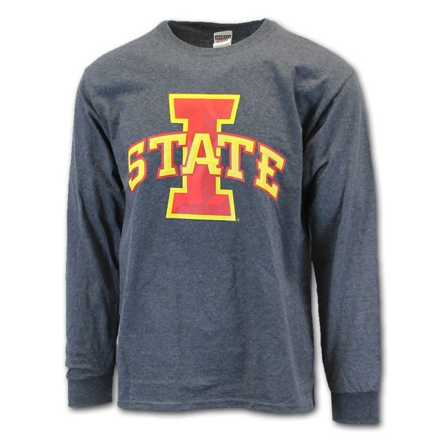 Image For Cy's Deals I-State Long Sleeve T-Shirt (Charcoal)