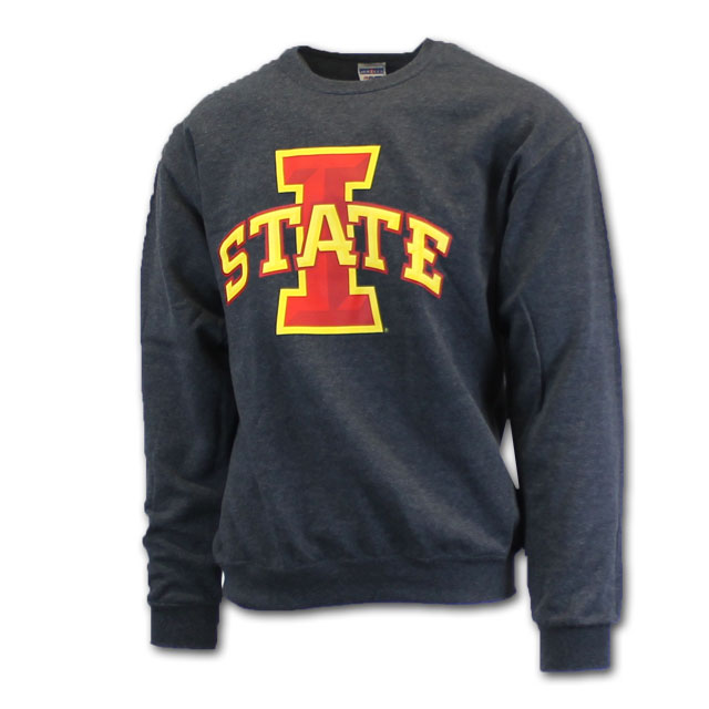 Image For Cy's Deals I-State Crew Neck Sweatshirt (Charcoal)