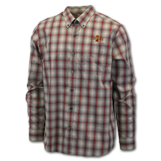 Image For Cutter & Buck I-State Plaid Shirt