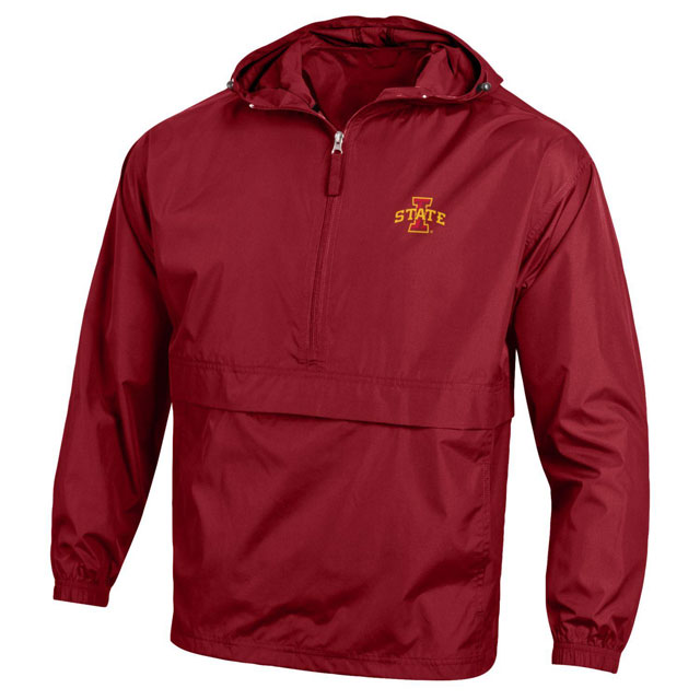 Cover Image For Champion® 1/2 Zip I-State Big Pocket Rain Jacket (Cardinal)