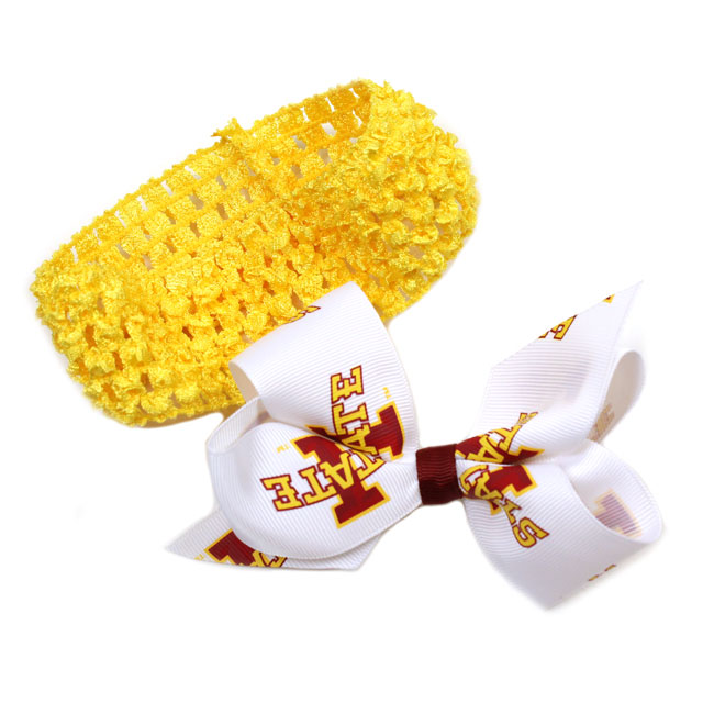 Image For Iowa State Headband/Bow Pack