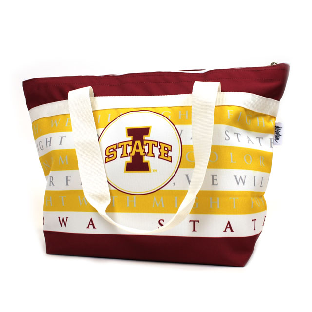 Image For I-State Striped Cooler Tote