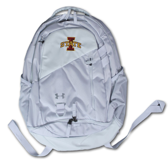 Image For UA® Hustle 4.0 I-State Backpack (White)