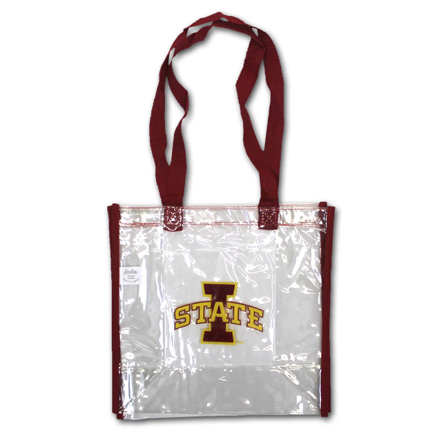 Image For I-State Clear Stadium Tote (Cardinal)