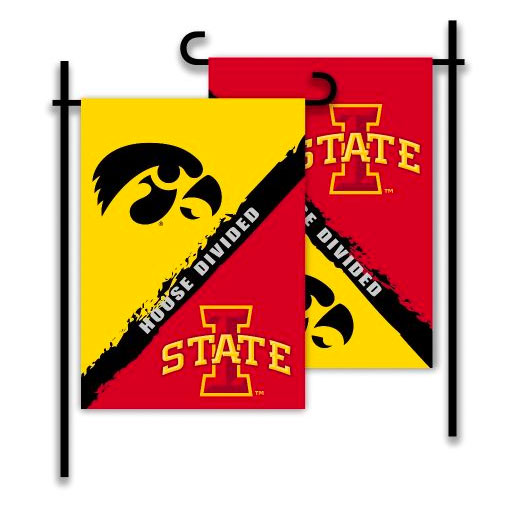 Image For House Divided Garden Flag