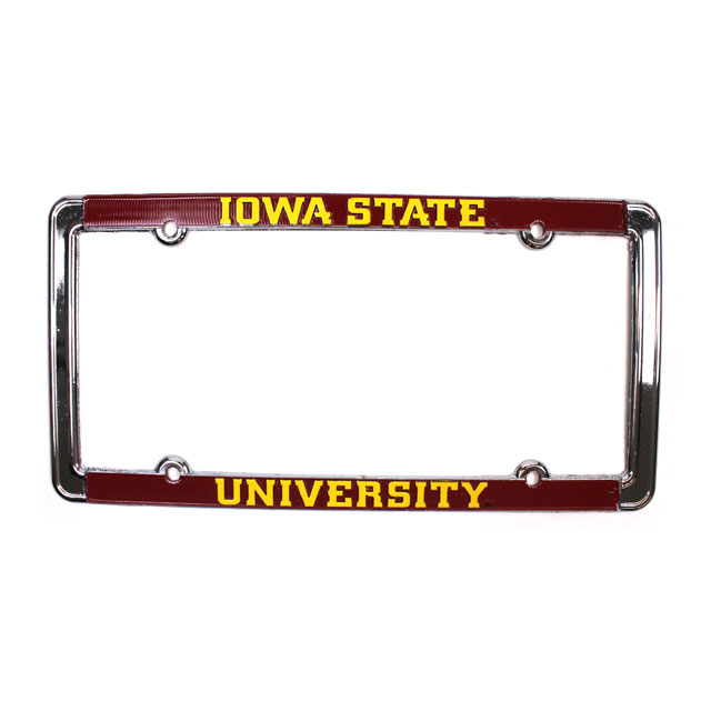 Image For Iowa State University License Plate Frame