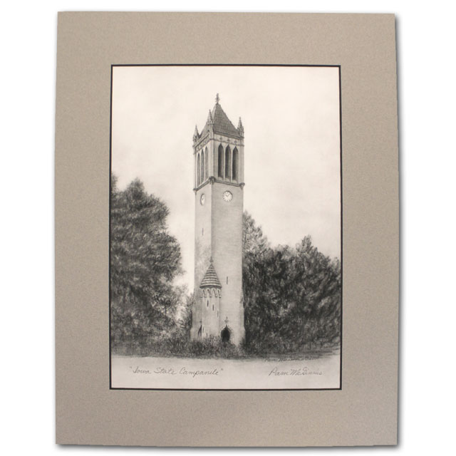 Image For Matted Print Iowa State Campanile *WAS $69.99