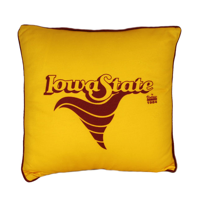 Image For Vintage Iowa State Cyclone Pillow