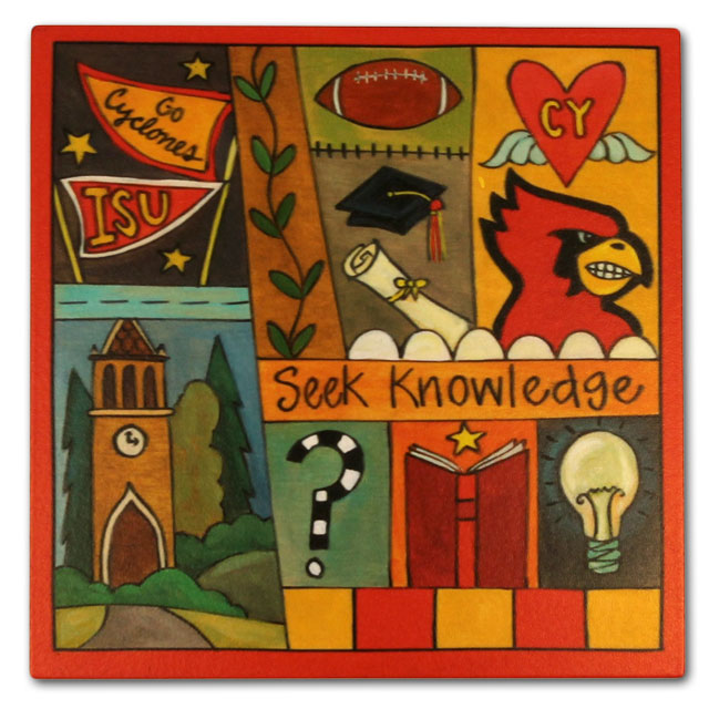Image For Sincerely, Sticks® Seek Knowledge Plaque