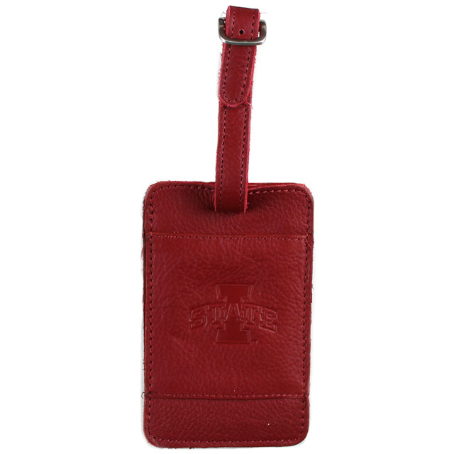Image For I-State Leather Luggage Tag (Cardinal)