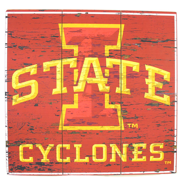 Image For I-State Cyclones Wood Sign* <i>WAS $34.99</i>
