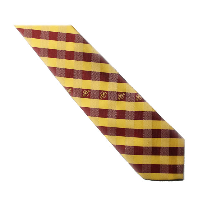 Image For I-State Plaid Tie
