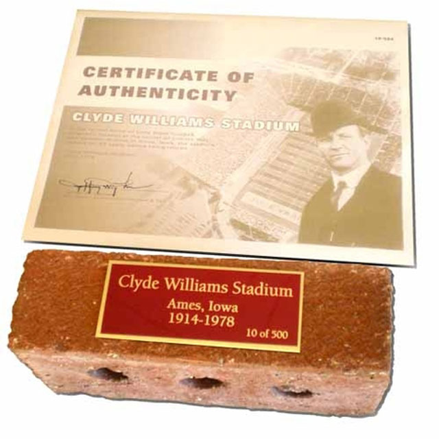 Image For ISUAA Clyde Williams Stadium Brick* WAS $75.00