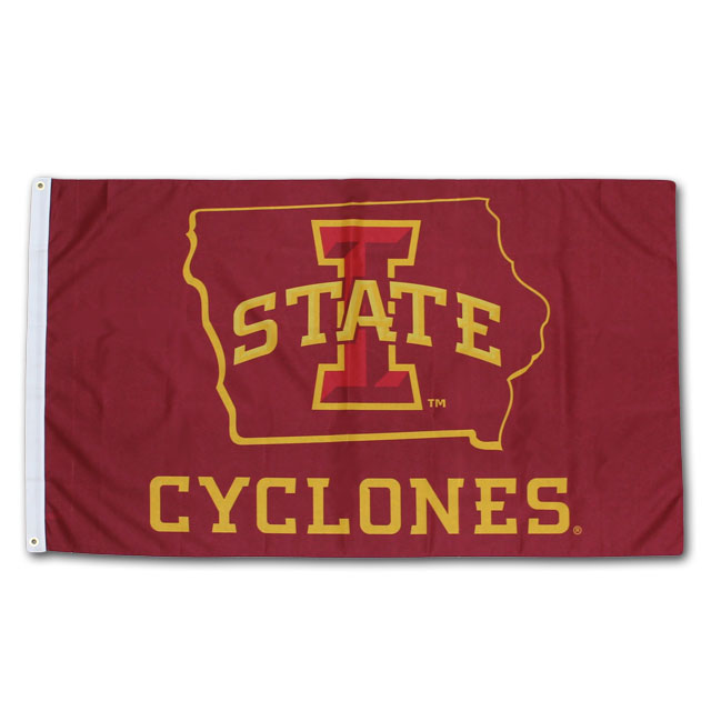 Image For Iowa State Outline Flag