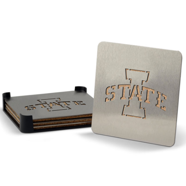 Image For Iowa State Stainless Coaster