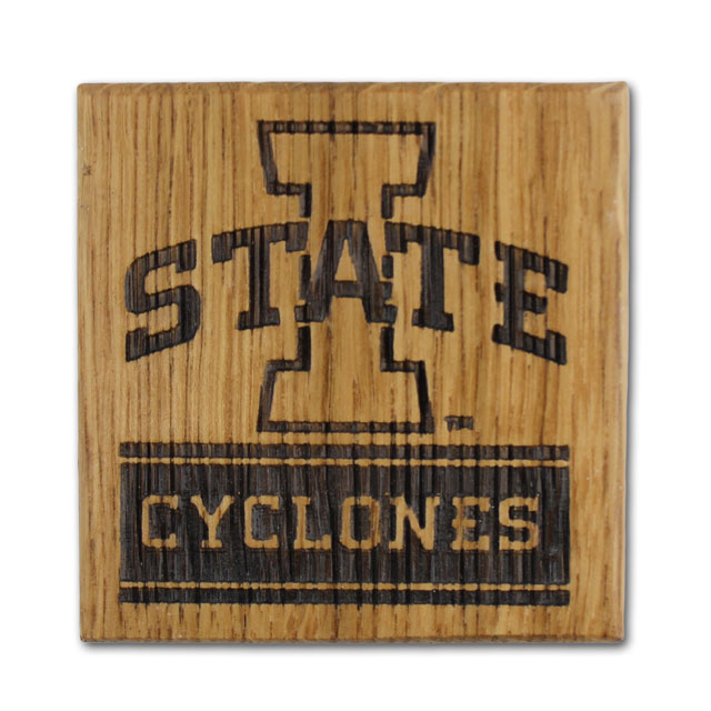 Image For I-State Cyclones Barrel Coaster Set