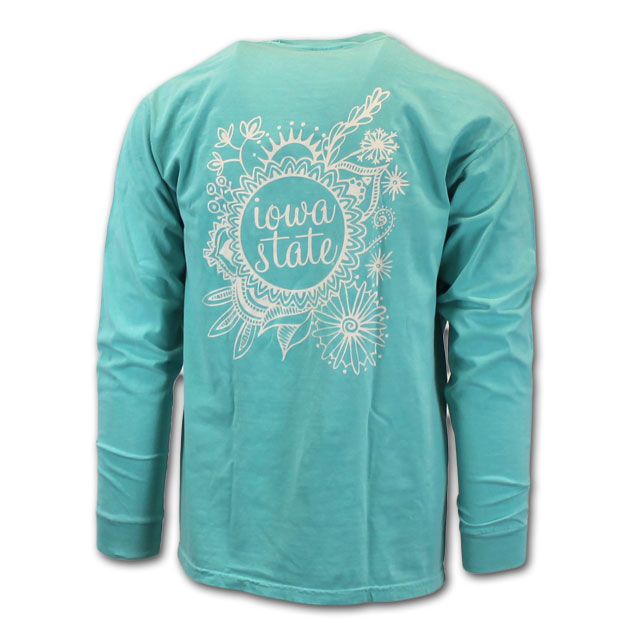 Image For Comfort Colors® Floral Mandala Long Sleeve