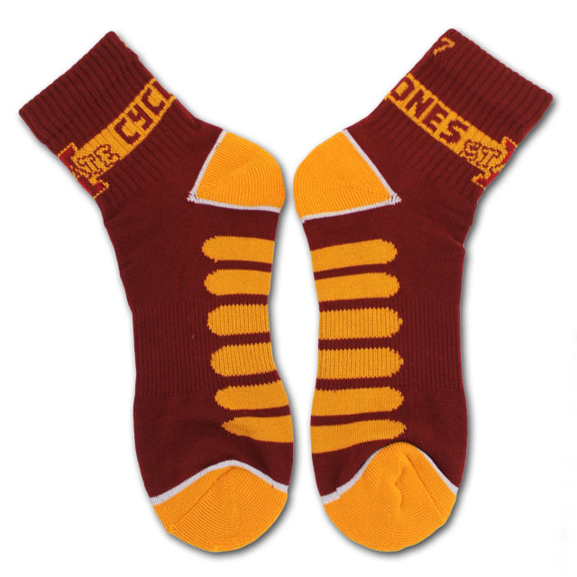 Image For 1/4 I-State Cyclones Socks (Large)