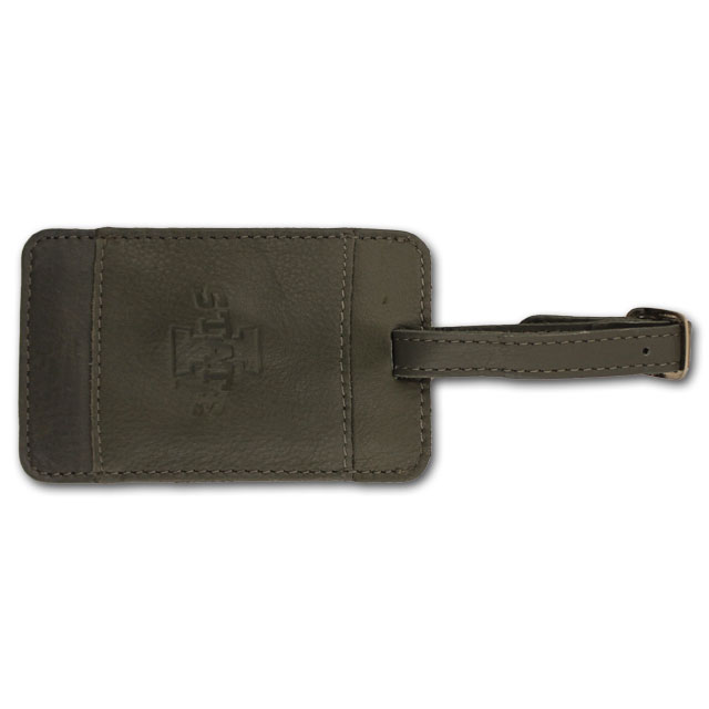 Image For I-State Leather Luggage Tag (Gray)