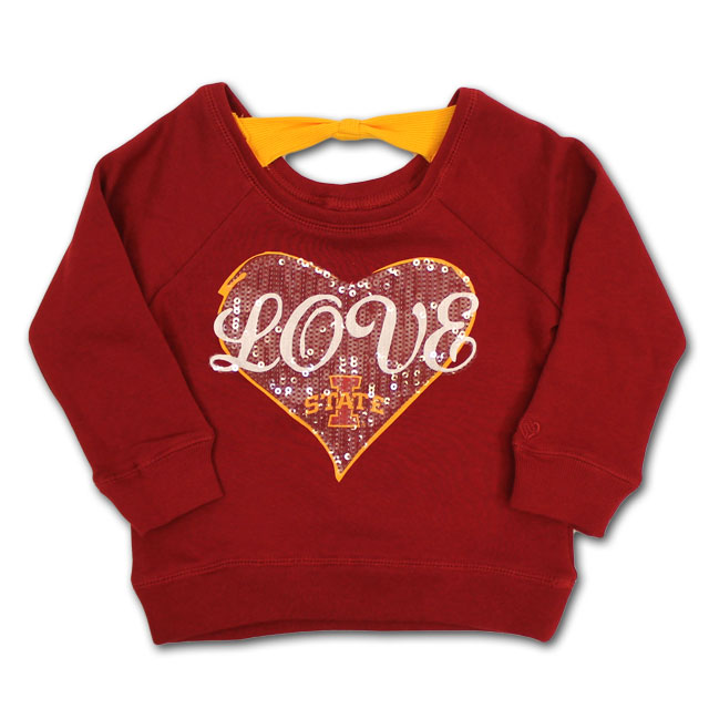 Image For Colosseum Toddler Girl's Love I-State Sweatshirt