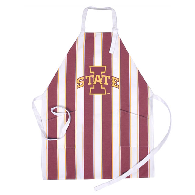 Image For I-State Striped Apron