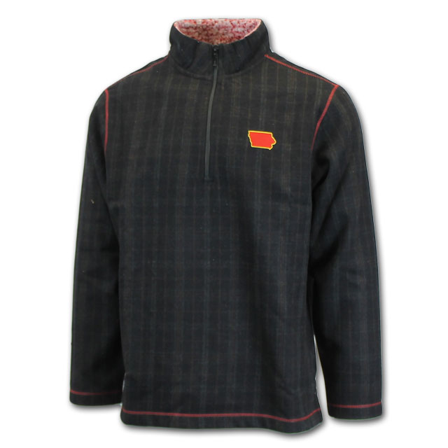 Image For Horn Legend® Iowa Plaid 1/4 Zip* <i>WAS $120.00</i>