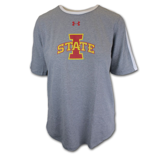 Image For Under Armour® Women's I-State T-Shirt (Gray) *WAS $20.00