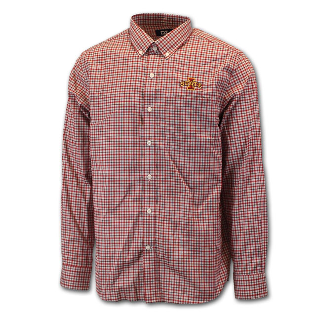 Image For Cutter and Buck Long Sleeve Plaid Button Up
