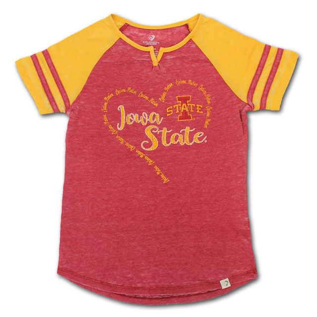 Image For Colosseum® Girl's Iowa State Heart Shirt*  <i>WAS $24.00</i>