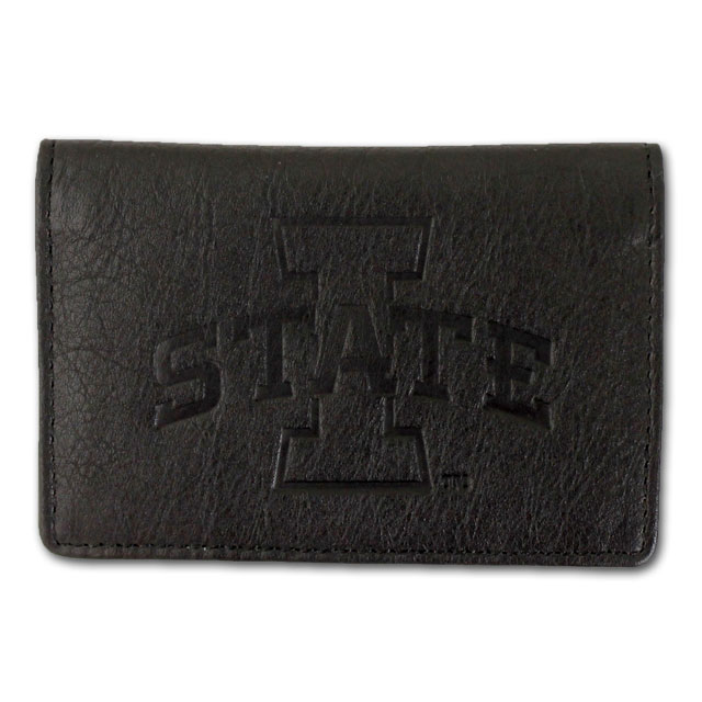Image For Black/Red Leather ID Wallet* <i>WAS $12.99</i>