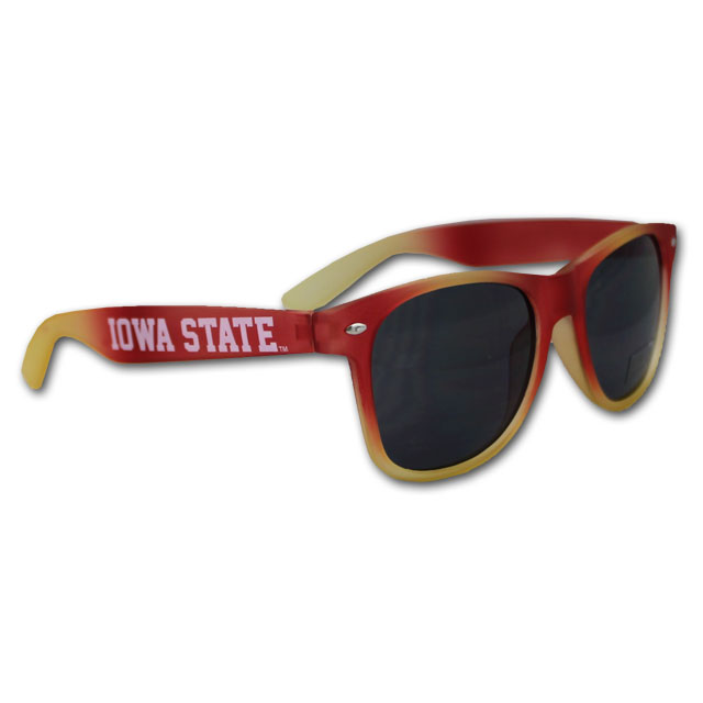 Image For Iowa State Cardinal and Gold Tie Dye Sunglasses
