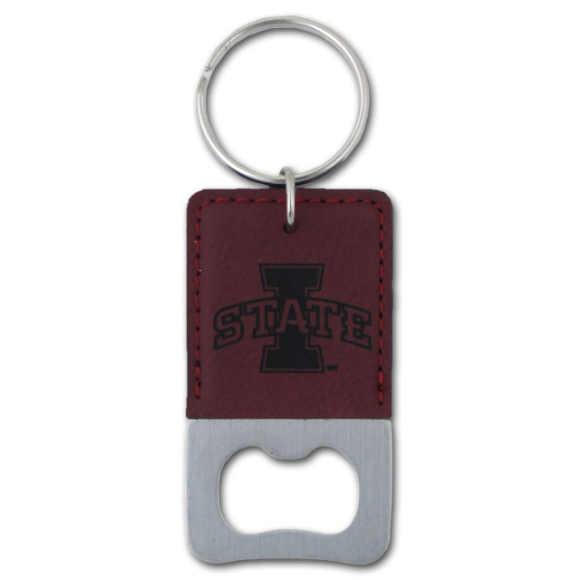 Image For Leather Bottle Opener Keychain