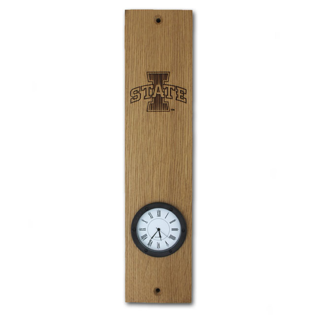 Image For I-State Barrel Stave Clock
