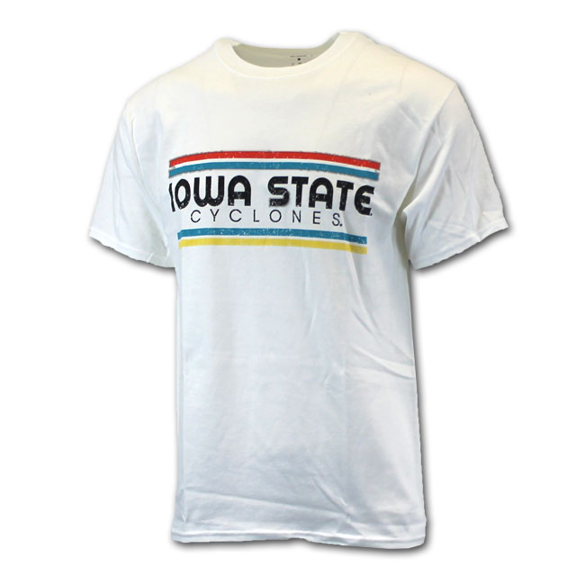 Image For White Iowa State Cyclones T-Shirt