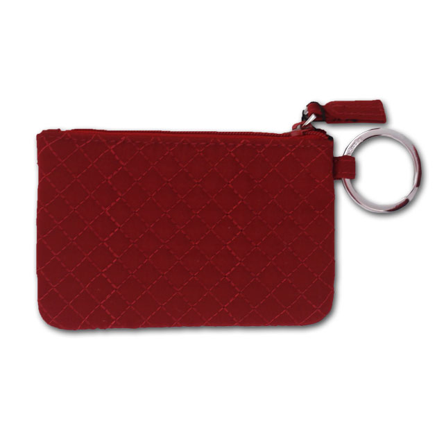 Image For Vera Bradley Cardinal Colored Zip ID Case