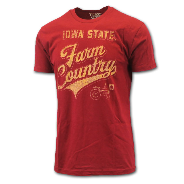 Image For Cardinal Iowa State Farm Country T-Shirt