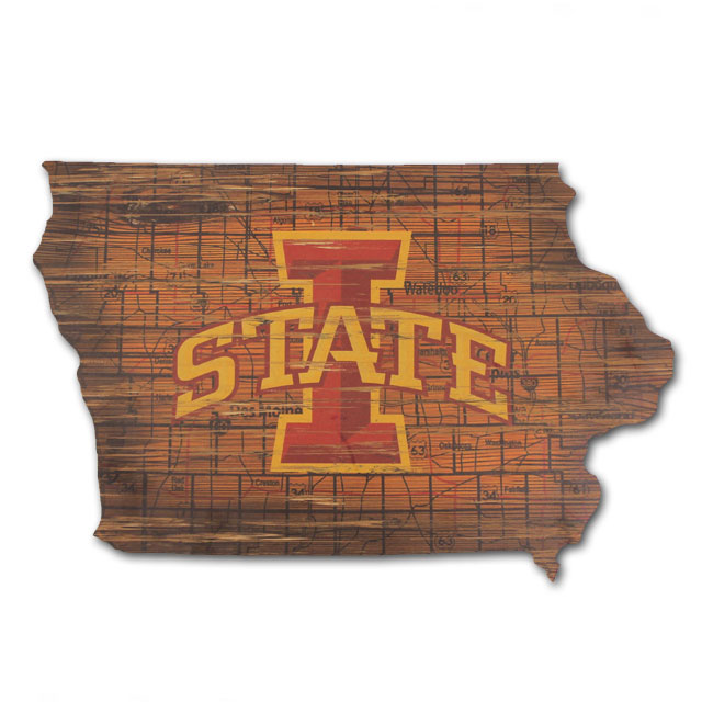 Image For Distressed State Of Iowa Sign