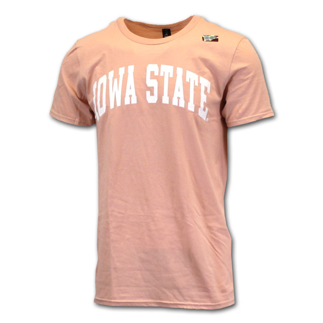 Image For Arched Iowa State Short Sleeve Dusty Rose*  <i>WAS $9.99</i>