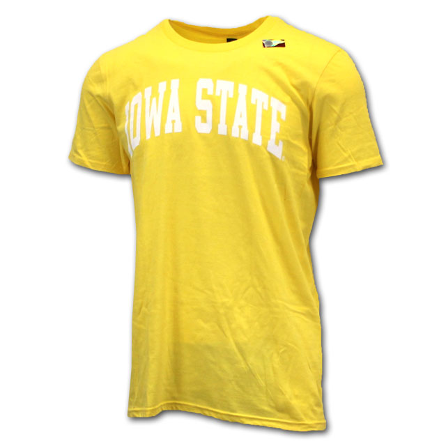 Image For Arched Iowa State Short Sleeve (Lemon Zest)
