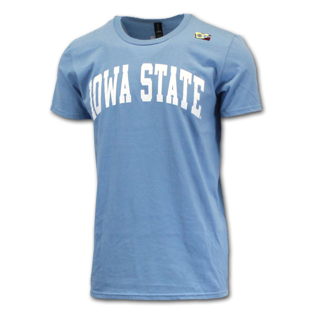 Image For Arched Iowa State Short Sleeve Light Blue*  <i>WAS $9.99</i>