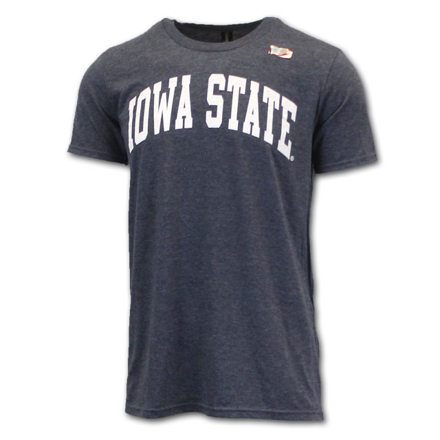 Image For Arched Iowa State Heather Short Sleeve (Navy)