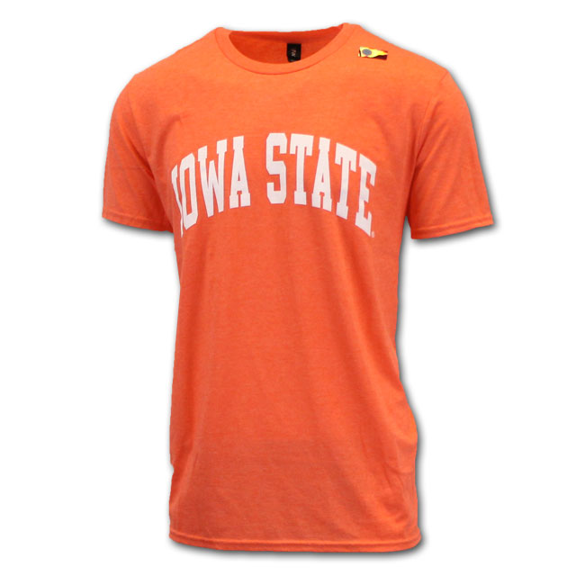 Image For Arched Iowa State Heather Short Sleeve (Orange)