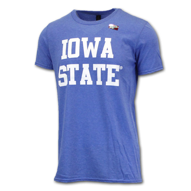 Image For Stacked Iowa State Short Sleeve Royal Blue* <i>WAS $9.99</i>