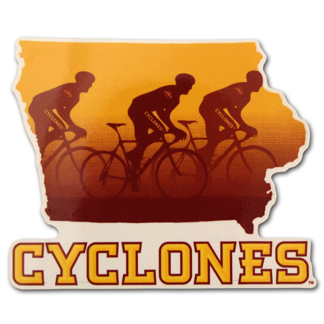 Image For Cyclones Bicycle Decal *WAS $4.99