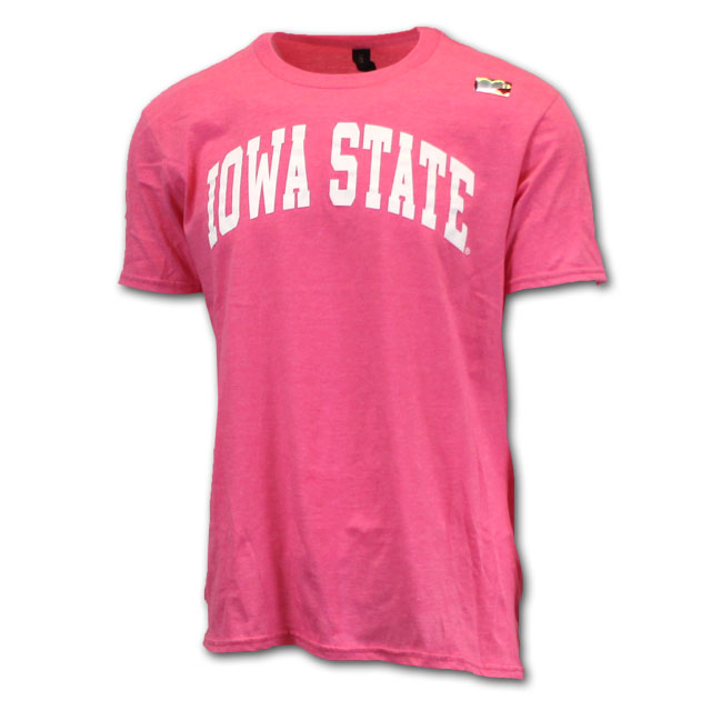 Image For Arched Iowa State Short Sleeve (Hot Pink)