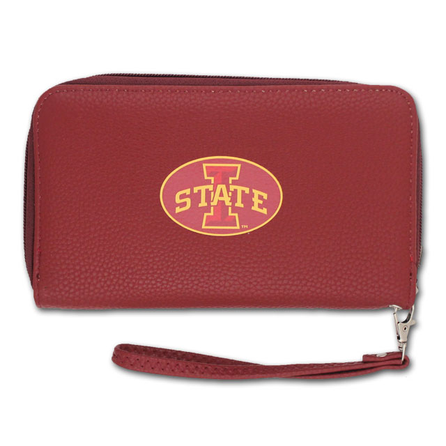 Image For I-State Cardinal Leather Wristlet