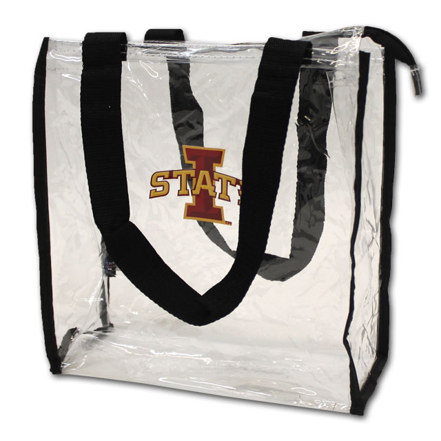 Image For I-State Clear Stadium Tote (Black)